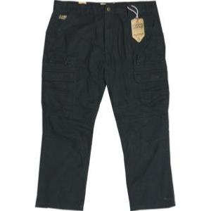 "KAM Tough Cotton Cargo Pants BLACK 44"" WAIST"