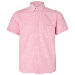NEW - KAM HERRINGBONE SHIRT  PINK 2 - 8XL