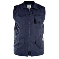 D555 Multi Pocket Outdoor Waistcoat NAVY ENZO