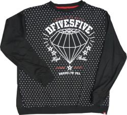 D555 Crew Sweat with distressed Print  DIAMOND DEALER 3xl