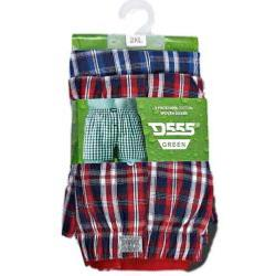 D555  Woven Cotton Boxers PACK OF TWO -  CHECK PLAID 2 - 6XL