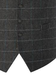SKOPES   HERITAGE COLLECTION  WOOL BLEND CHECK WAISTCOAT CHARCOAL CRIEFF