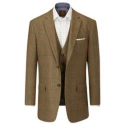 SKOPES Wool Blend Check Jacket BROWN MONTROSE