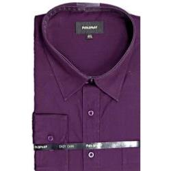 Metaphor Plain Shirt - Long Sleeve AUBERGINE