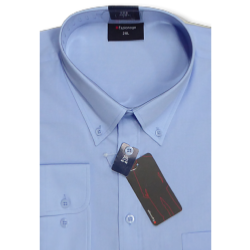 ESPIONAGE Cotton rich Long Sleeve shirt BLUE