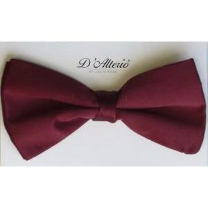 EXTRA LONG BOW TIE - BURGUNDY