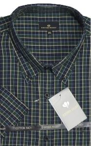COTTON VALLEY Check Casual shirt BOTTLE/NAVY 2XL