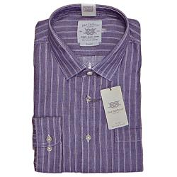 BAR HARBOUR WARM HANDLE  COTTON  WOVEN STRIPE  SHIRT BERRY