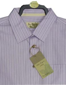BAR HARBOUR 100% Organic Cotton shirt LAVENDER 4XL