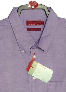 BAR HARBOUR Oxford Woven Shirts LONG SLEEVE Plum