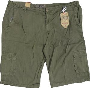 KAM  Cotton Twill Cargo Shorts with Active stretch waist KHAKI