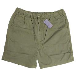 ESPIONAGE Casual Cotton  rugby Shorts with Comfort Stretch tie waist GREEN 2 - 8XL