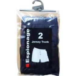 ESPIONAGE Cotton Jersey Boxers - Twin Pack  2 - 8XL