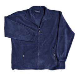 METAPHOR  Full Length Zip Fleece Jacket NAVY 2 - 8XL