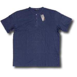 ESPIONAGE Cotton Grandad Tee Shirt NAVY 2XL