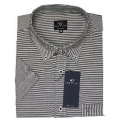 COTTON VALLEY Soft Cotton Grey Stripe Casual Shirt