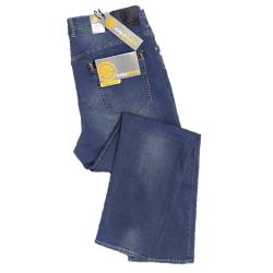 "SALE - KAM Stretch Dark Wash Jean INDIGO SERGIO 40 - 42"" S/R"
