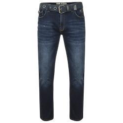 Mens King//Big ROCKFORD Comfort Fit Stretch Denim Jeans Black Blue Waist 42 60