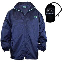 D555 King Size  PACKAWAY WATERPROOF BREATHABLE  JACKET ZAC  NAVY 3 - 8XL
