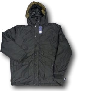 KAM Winter Parker with removable hood BLACK 2XL