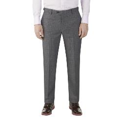 SKOPES HERITAGE CHECK SUIT TROUSERS GREY/BLUE WARLEY
