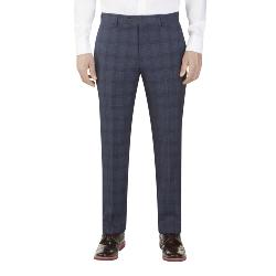 "SKOPES MINWORTH CHECK SUIT TAILORED TROUSERS  BLUE  46 - 56"" WAIST S/R"