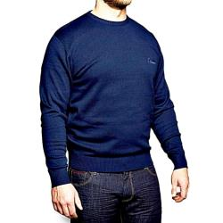 REPLIKA JEANS  Fine Knit Cotton Pullover  NAVY