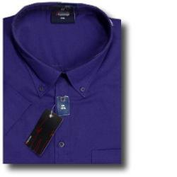 ESPIONAGE Cotton rich Short Sleeve shirt PURPLE 2XL