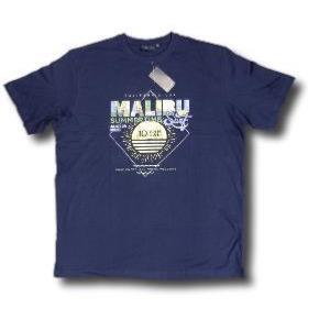 ESPIONAGE Printed Summer Tee 'MALIBU'' NAVY