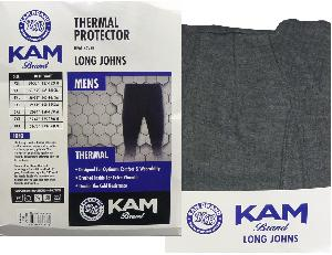 KAM King SizeThermal Long Johns WHITE