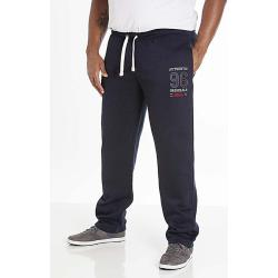 SALE - D555 KINGSIZE MENS EMBROIDERED AND APPLIQUE  JOGGER PORTLAND NAVY 3 - 6XL