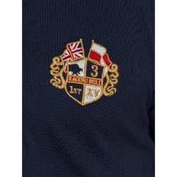 RAGING BULL RUGBY -  Long Sleeve Crest Rugby Shirt  NAVY 3 - 6XL