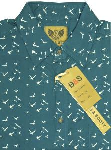 BAINES and SCOTT Indian Cotton Printed shirt BIRDS 3XL