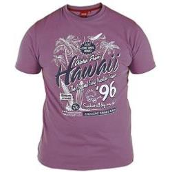 D555  Melange Tee shirt HAWAII 96 MULBERRY