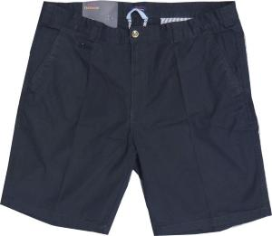 "Oakman Casual Sulpher Washed Cotton Shorts NAVY 62"" Waist"
