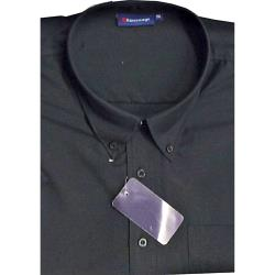 ESPIONAGE Easy Care Poly/Viscose Short Sleeve shirt BLACK