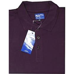 METAPHOR BIG MENS COTTON PIQUE POLO WINE RED