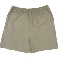 ESPIONAGE Casual Cotton  rugby Shorts with Comfort Stretch tie waist NATURAL  2 - 8XL
