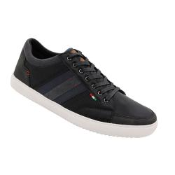 D555 KING SIZE MENS LACE UP SHOES WITH CONTRAST TRIM DARIAN BLACK UK 12 - 15